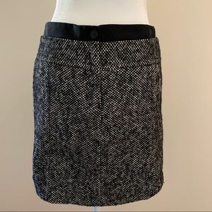 •LOFT• Chunky Tweed Wool Blend Mini Skirt - Size 6